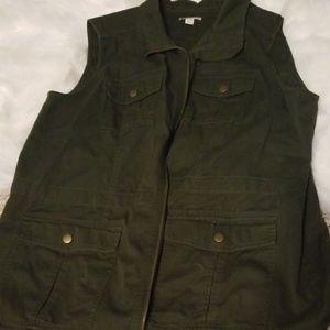 Womens dark green vest